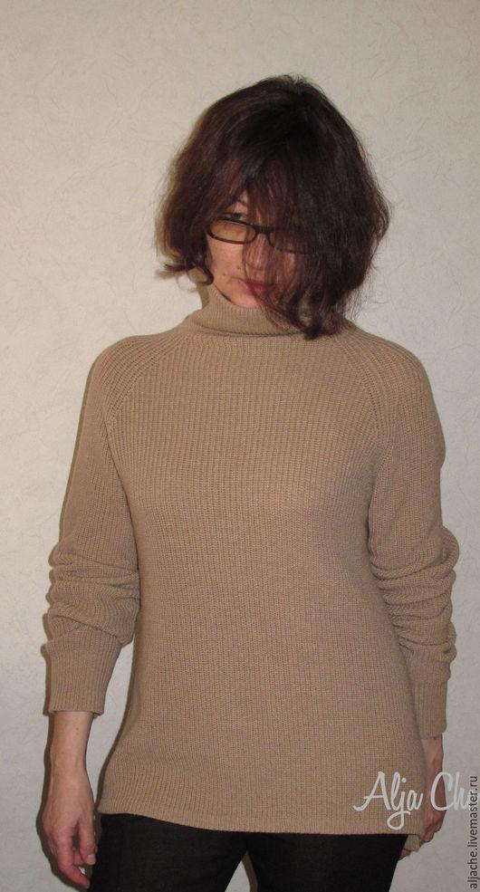 Кофты и свитера ручной работы. Ярмарка Мастеров - ручная работа. Купить Свитер кашемировый. Handmade. Бежевый, свитер из кашемира