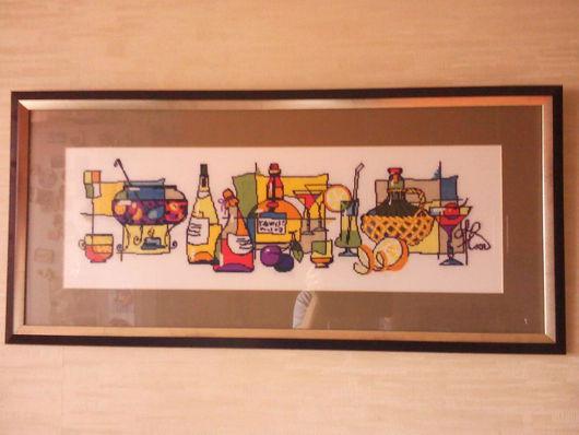 """Натюрморт ручной работы. Ярмарка Мастеров - ручная работа. Купить Вышитая картина """"Глинтвейн"""", ручная работа. Handmade. Комбинированный, натюрморт"""