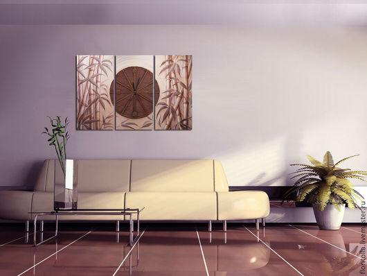 """Часы для дома ручной работы. Ярмарка Мастеров - ручная работа. Купить """"Время тишины"""" часы - коллаж. Handmade. Коллаж, коричневый"""