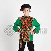 """Работы для детей, ручной работы. Ярмарка Мастеров - ручная работа Рубаха в русском стиле """"Хохлома """". Handmade."""