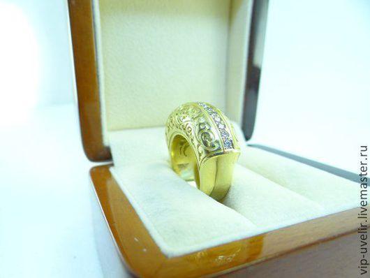 """Кольца ручной работы. Ярмарка Мастеров - ручная работа. Купить Кольцо """"Каррера&Каррера"""" желтое золото, бриллианты. Handmade. Кольцо"""