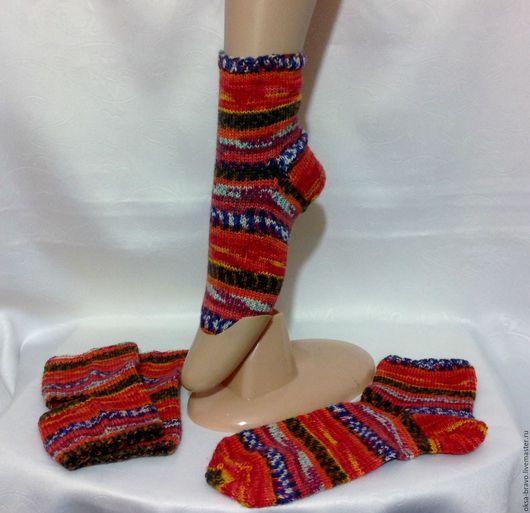 Носки, Чулки ручной работы. Ярмарка Мастеров - ручная работа. Купить Комплект носочков(2 пары) Танцевальный. Handmade. Разноцветный