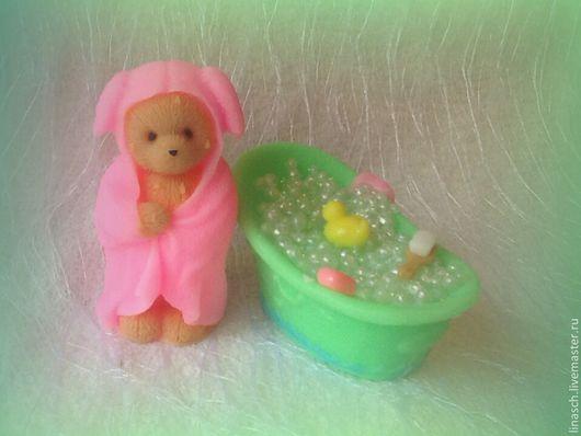 """Мыло ручной работы. Ярмарка Мастеров - ручная работа. Купить Мыло """"Мишка с ванночкой"""". Handmade. Мятный, ванна, подарок женщине"""