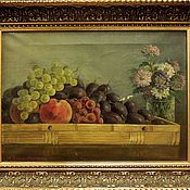 handmade. Livemaster - original item Europe still life oil on Canvas is signed and dated 1923. Handmade.