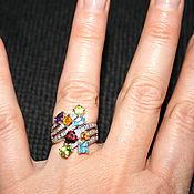 """Винтаж ручной работы. Ярмарка Мастеров - ручная работа Кольцо """" COCTEL"""" 585, камни, бриллианты. Handmade."""