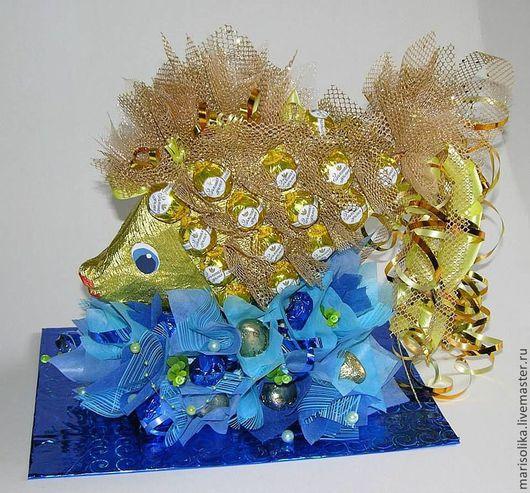Кулинарные сувениры ручной работы. Ярмарка Мастеров - ручная работа. Купить Золотая рыбка. Handmade. Желтый, золотая рыбка
