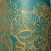 Для дома и интерьера ручной работы. Ярмарка Мастеров - ручная работа Ваза для цветов золото на голубом. Handmade.