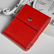 Сумки и аксессуары handmade. Livemaster - original item Duo genuine leather money clip (red). Handmade.