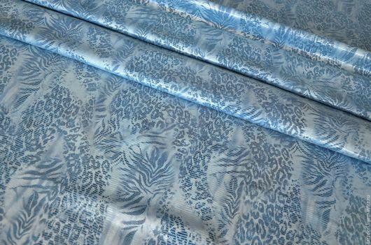 Шитье ручной работы. Ярмарка Мастеров - ручная работа. Купить Натуральная кожа КРС 0,8 мм - Голубая с серебристым принтом. Handmade.