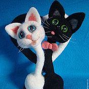 Куклы и игрушки ручной работы. Ярмарка Мастеров - ручная работа Кошки и коты -  Идеальная парочка (сухое валяние). Handmade.