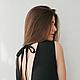 Платья ручной работы. Ярмарка Мастеров - ручная работа. Купить Платье с открытой спиной. Handmade. Черный, Коктейльное платье