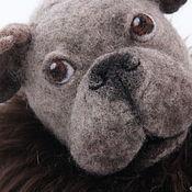 Stuffed Toys handmade. Livemaster - original item dog. French bulldog Wool Games. Handmade.