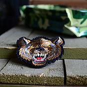 Украшения ручной работы. Ярмарка Мастеров - ручная работа Морда Гиены 3D, вышитый патч, нашивка с липучкой. Handmade.