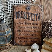 Для дома и интерьера ручной работы. Ярмарка Мастеров - ручная работа «Bruschetta» Хлебная доска из массива дуба. Handmade.