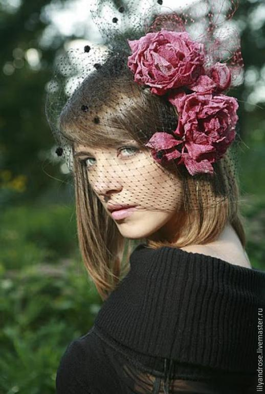 Заколки ручной работы. Ярмарка Мастеров - ручная работа. Купить Шелковые розы для прически. Заколка из роз. Handmade. Подарок девушке
