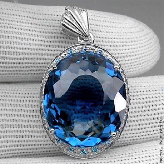 """Кулоны, подвески ручной работы. Ярмарка Мастеров - ручная работа. Купить Подвеска """"Голубые небеса """". Handmade. Синий, подвеска"""