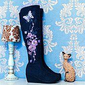 """Обувь ручной работы. Ярмарка Мастеров - ручная работа Валенки """"Сиреневый рай"""" горка серые. Handmade."""