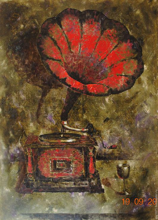 """Натюрморт ручной работы. Ярмарка Мастеров - ручная работа. Купить картина маслом """"Красный"""". Handmade. Комбинированный, картина, картина маслом"""