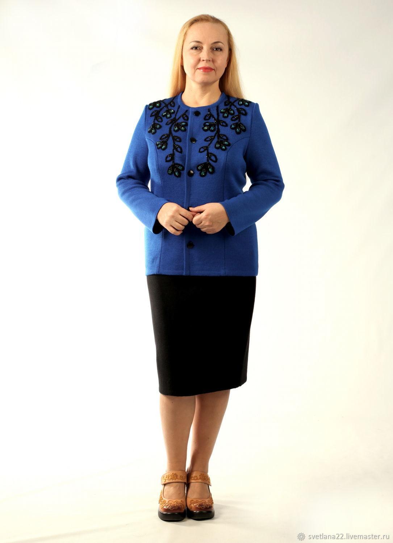 """Knitted suit """"Brilliant branches"""" Bordeaux cornflower, Suits, Pavlodar,  Фото №1"""