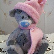Куклы и игрушки ручной работы. Ярмарка Мастеров - ручная работа Серый Мишка с заплатками. Handmade.
