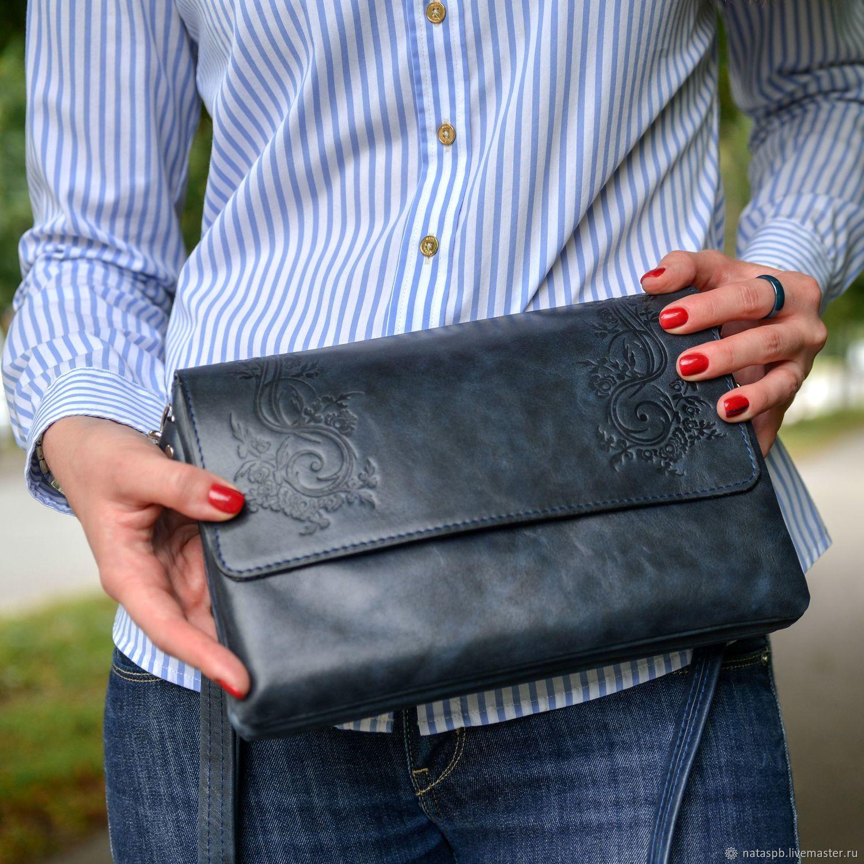 Bags: Bag women's clutch bag leather blue Alita Mod S44t-661, Clutches, St. Petersburg,  Фото №1