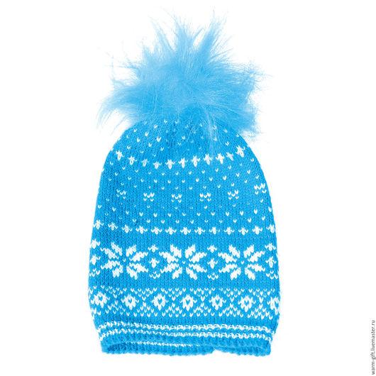 "Комплект ""Голубая звезда"" (01-05) Set ""Blue Star"" (Hat and mittens) (01-05) В комплекте: шапка (длинна до помпона 35 см) 1 шт. и митенки (18 х 9,5 см) 2 шт. Цена 3500 руб. (45 EUR)"