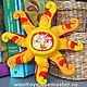 """Детская ручной работы. Интерьерная игрушка """"Солнце"""". Аврора  (WoolToys). Ярмарка Мастеров. Сувенир, войлок"""