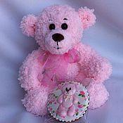 Куклы и игрушки ручной работы. Ярмарка Мастеров - ручная работа Вязаный розовый медвежонок. Handmade.