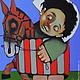 Фантазийные сюжеты ручной работы. СВЕТЛОЕ ДЕТСТВО. Art painting Gor    (petrosyan). Интернет-магазин Ярмарка Мастеров. Синий