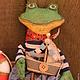 Ароматизированные куклы ручной работы. Лягушонок морячок. Олька Моисеева. Интернет-магазин Ярмарка Мастеров. Лягушонок, грунтованный текстиль
