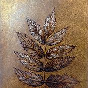 """Картины и панно ручной работы. Ярмарка Мастеров - ручная работа Изображение """"Лист рябины"""". Handmade."""