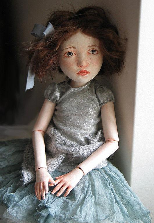 Коллекционные куклы ручной работы. Ярмарка Мастеров - ручная работа. Купить miss Emily Grey. Handmade. Шарнирная кукла