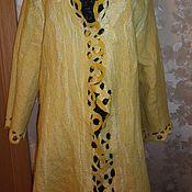 """Одежда ручной работы. Ярмарка Мастеров - ручная работа Летнее валяное пальто """"Золотое солнышко"""". Handmade."""