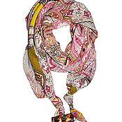 Аксессуары handmade. Livemaster - original item Double textile scarf in the shape of a slice. Handmade.