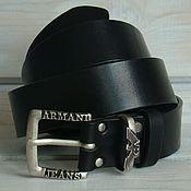 Аксессуары handmade. Livemaster - original item Belt leather men`s Nerotal.. Handmade.