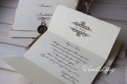 Свадебные аксессуары ручной работы. Ярмарка Мастеров - ручная работа. Купить Приглашения на свадьбу Письмо. Handmade. Комбинированный