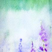 Картины и панно ручной работы. Ярмарка Мастеров - ручная работа Ясное утро. Полевые травы. Акварель. Handmade.