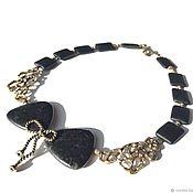 Украшения handmade. Livemaster - original item Choker Collar butterfly. Jasper with pyrite, shungite, designer brass. Handmade.