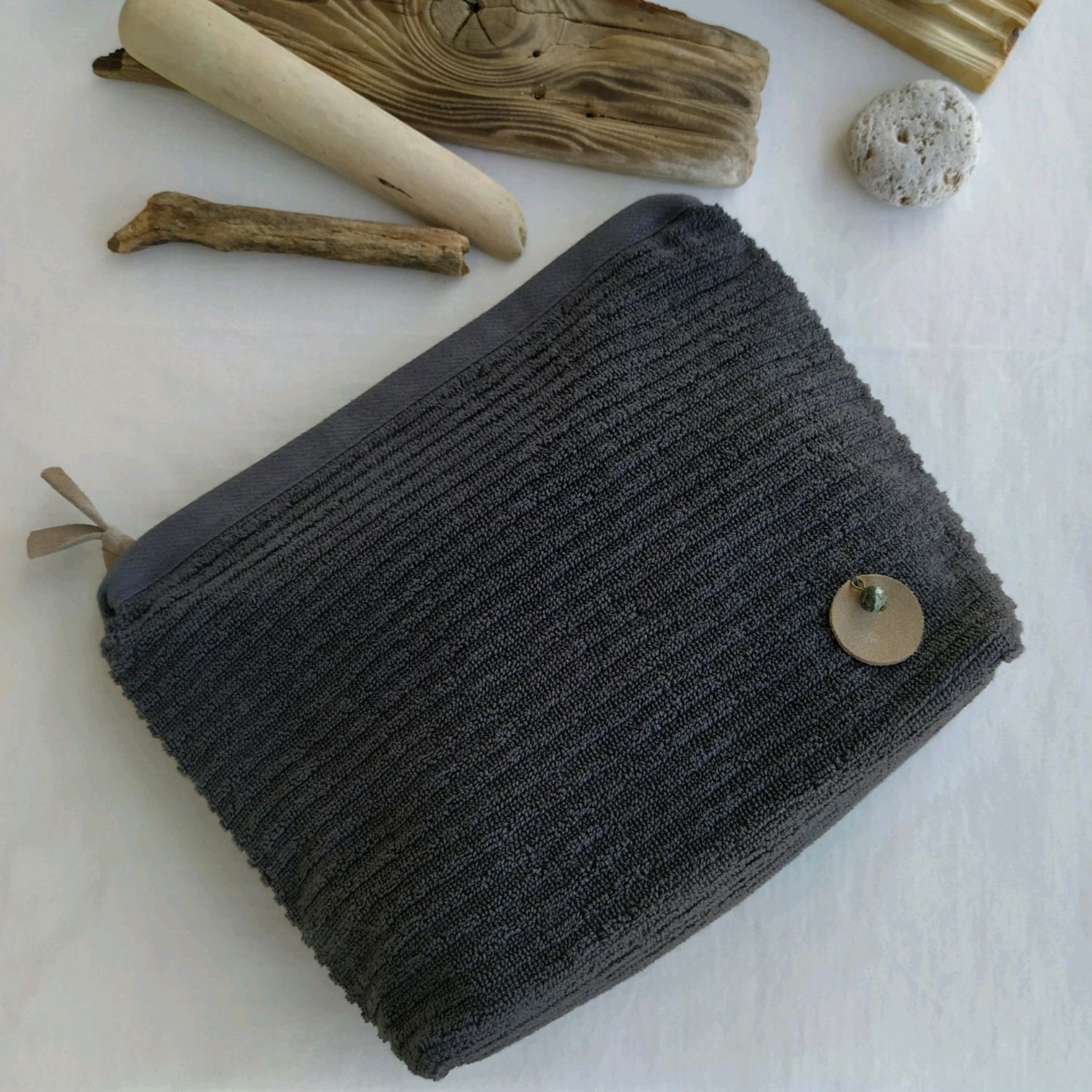 Men's cosmetic bag cotton Terry anthracite, Beauticians, St. Petersburg,  Фото №1
