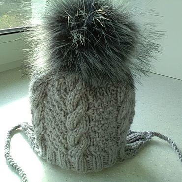 Одежда ручной работы. Ярмарка Мастеров - ручная работа Шапка на завязках. Handmade.