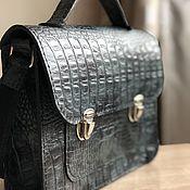 handmade. Livemaster - original item Mini briefcase women`s genuine leather. Handmade.