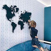 Interior elements handmade. Livemaster - original item WORLD MAP OF the TUBE ON the ACRYLIC