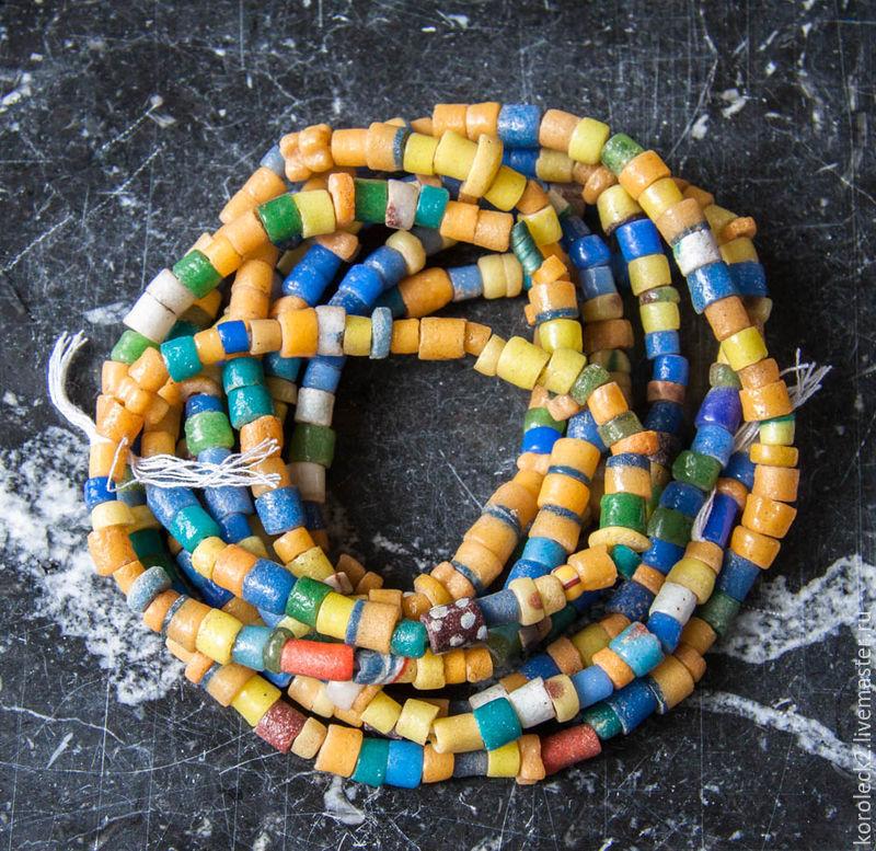 Микс из стеклянных бусин разного цвета и формы, Африка, Бусины, Москва,  Фото №1