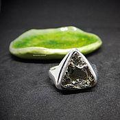 Украшения handmade. Livemaster - original item Ring with pyrite Magic triangle 19 R-R. Handmade.