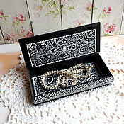 Для дома и интерьера ручной работы. Ярмарка Мастеров - ручная работа Шкатулка для украшений Black and White. Handmade.