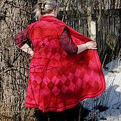 Одежда handmade. Livemaster - original item Vest long Red. Handmade.