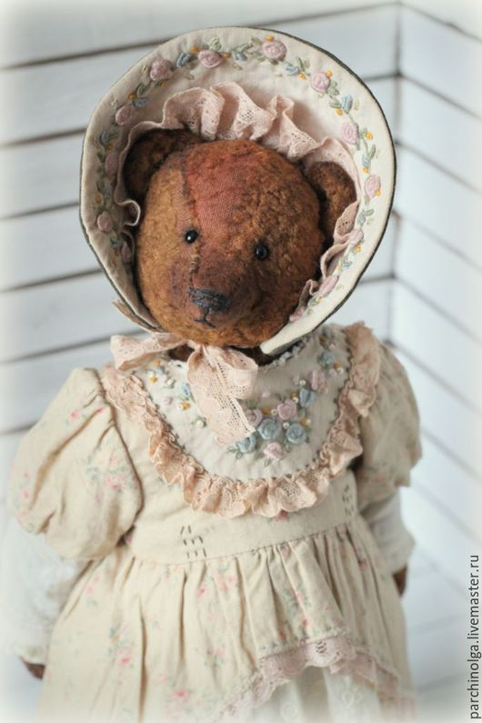 Мишки Тедди ручной работы. Ярмарка Мастеров - ручная работа. Купить Авдотья. Handmade. Коричневый, винтажный стиль, глаза стеклянные