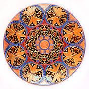 Посуда ручной работы. Ярмарка Мастеров - ручная работа Китайский мандарин. Декоративная тарелка в технике точечной росписи.. Handmade.