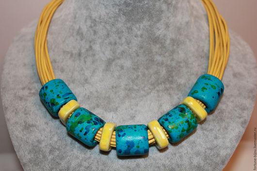 Колье, бусы ручной работы. Ярмарка Мастеров - ручная работа. Купить ожерелье Летнее. Handmade. Желтый, подарок подруге