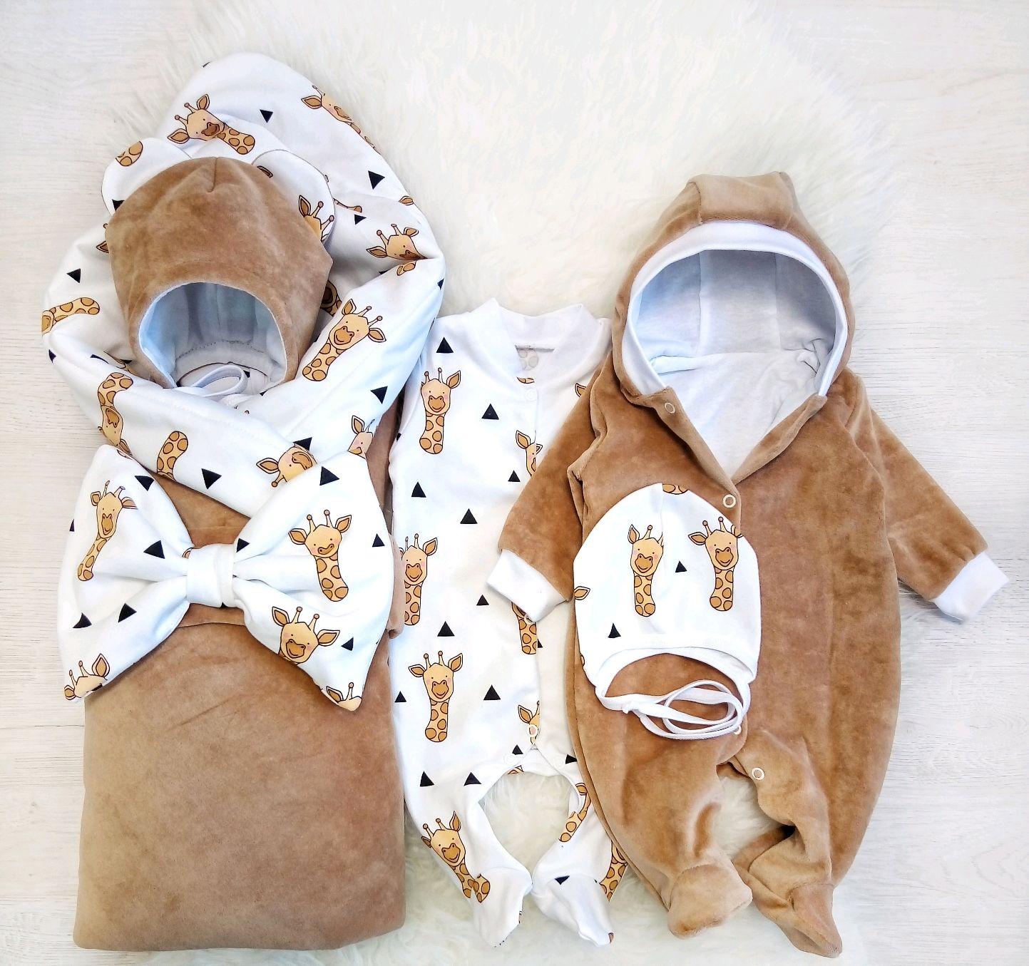 Комплект на выписку Жирафы на песке, Комплект для выписки, Екатеринбург,  Фото №1
